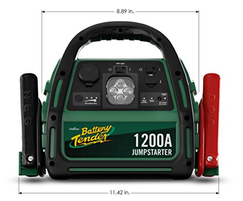 Battery Tender 1200 Peak Amp AGM Car Jump Starter with 2100A USB Ports to Charge Mobile Devices and 12V DC socket to Power Other Accessories by Battery Tender (Image #7)'