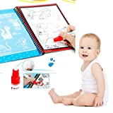 2018 Newest Education Magic Water Painting Board, 19*2.5*16.5cm 1 Magic Pen + 1 Painting Board, Kids Graffiti Color Paint Drawing Education Toys Birthday Gift For Boys Girls (Ocean World)