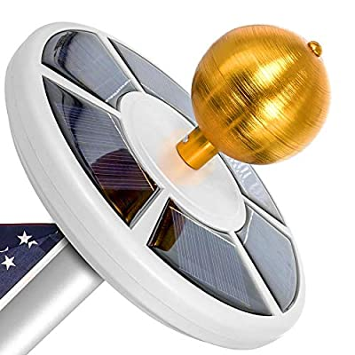 Solar Flag Pole Light, Lasts 2X Longer Than Competition, Super Bright Flag Pole Lights, 100% Flag Coverage, Fits Most Most Flag Poles, Flag Pole Lights Solar Powered, Bright Energy Saving LEDs - Vont