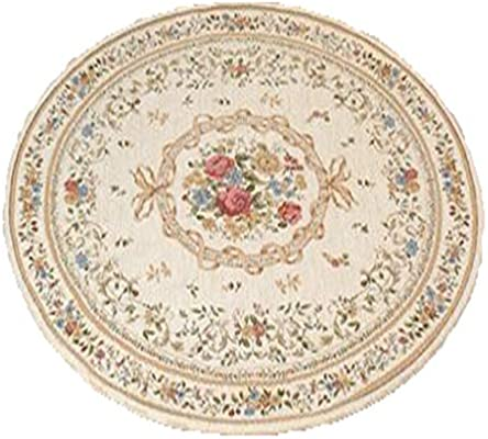 Amazon.com: SYCARPET - Alfombra redonda y moderna para mesa ...