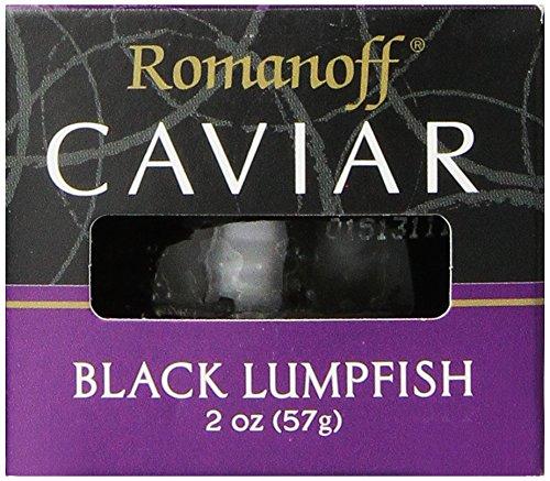 Romanoff Caviar Black Lumpfish, 2 Ounce Jar