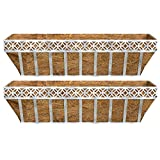Better Homes and Gardens Patio Lattice Coco Window Box Planter (2)