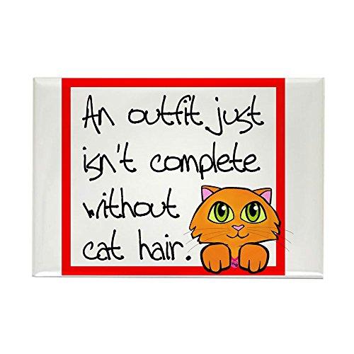 (CafePress Cat Hair Rectangle Magnet, 2