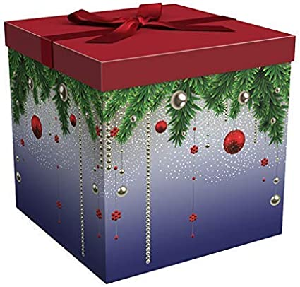 amazon com gift box 9x9x9 silent night christmas collection easy to assemble reusable no glue required ribbon tissue paper and gift tag included ez gift box by endless gift box 9x9x9 silent night christmas collection easy to assemble reusable no glue required ribbon tissue paper and gift tag included ez