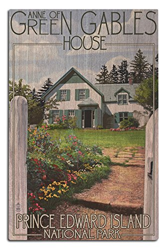 Lantern Press Prince Edward Island - Green Gables House and Gardens (12x18 Wood Wall Sign, Wall Decor Ready to Hang)