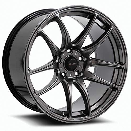 18x9.5 Vors TR4 5x114.3 35 Hyper Black Wheel Rim - Hyper Black Wheel Rims