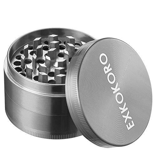 Herb Spice Tabacco Grinders, Metal Zinc Alloy Mini Handheld Tabacco Pollen Grinder by EXKOKORO(2.5