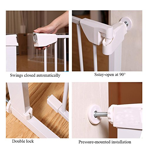 Fairy Baby Easy Step Walk Thru Pet and Baby Gate Expandable 29.5'' High,Fit Spaces 40.55''-43.31'' by Fairy Baby (Image #3)