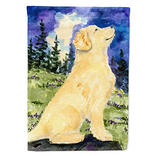 (Caroline's Treasures SS8977CHF Golden Retriever Flag Canvas House Size, Large, Multicolor)