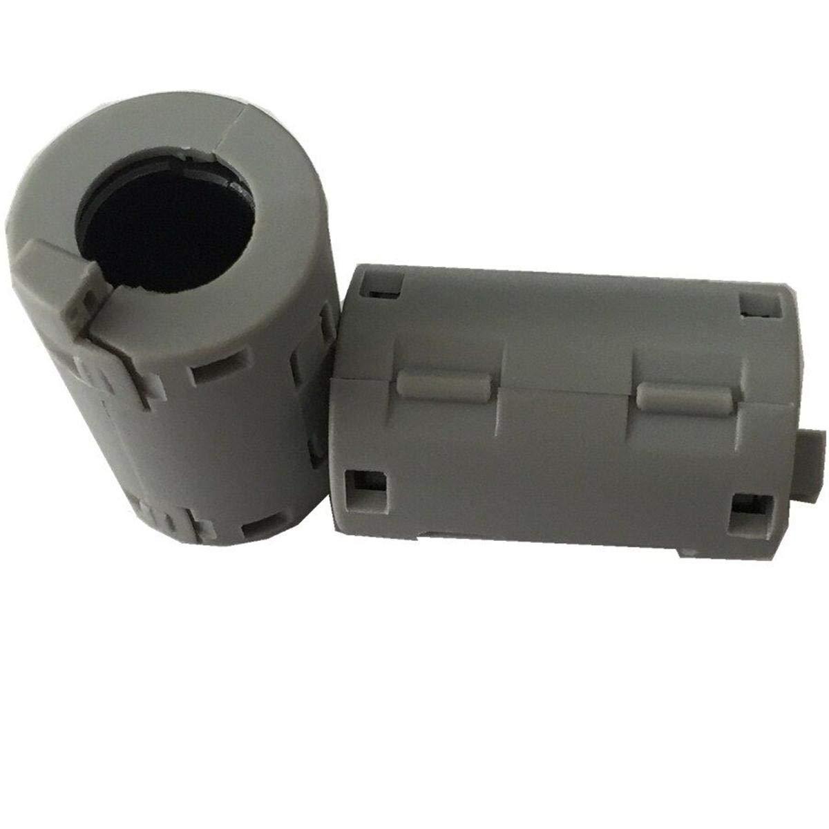8pcs Inner 11mm 0.43 inch Noise Cancel Clip ferrite core Cable Wires EMI Filter ferrite Ring rf Choke ferrite Bead 2132-1130 Grey