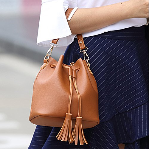 Kigurumi Damen Quaste Kleine Tasche Freizeit Tragbare Umhängetasche Grau oFMdcxMUK