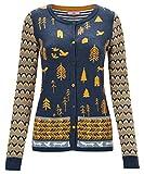 Joe Browns Womens Autumn Print Button Up Cardigan Blue 14