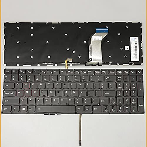 New Keyboard for Lenovo IdeaPad Y700-15ISK Y700-17ISK Series US Layout T6Y1B-US NSK-BFLBN SN20H54485 PK130ZF1A00 9Z.N8RBN.L01 Black Backlight with Pointing Stick