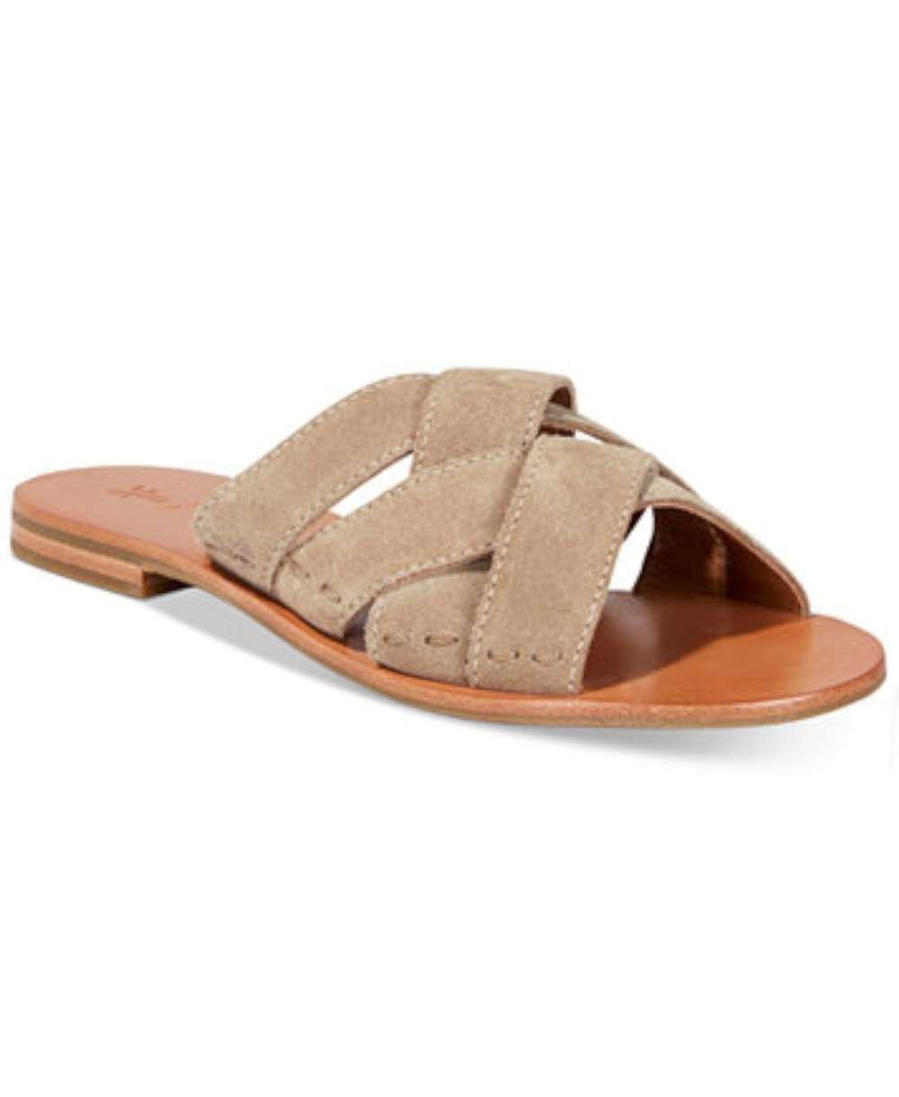 FRYE Womens Carla Criss Cross Open Toe Casual Slide Sandals, Ash, Size 6.5 by FRYE (Image #5)