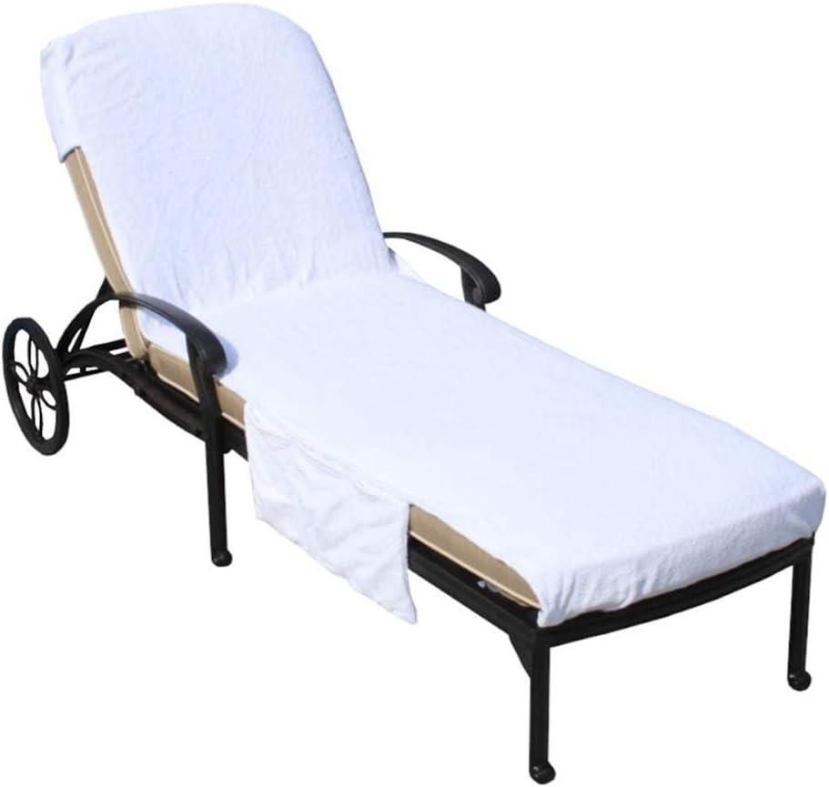 Toalla para tumbona, 215 x 74 cm, con capucha, no deslizante, extragrande, tumbona de playa, jardín, para tomar el sol, natación, hotel, piscina, portátil,