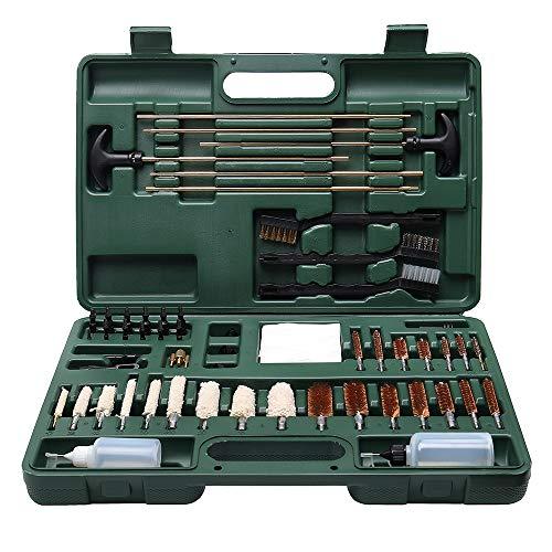IIET Gun Cleaning Kit, Universal Guns Cleaning Tools for All Guns, Hunting Rifle, Pistol, Shotgun, Gun Clean Accessories Kit 45 Caliber 9mm 556