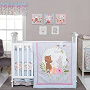 Trend Lab My Little Friends 6 Piece Crib Bedding Set, Blue/Pink/Brown/Gray