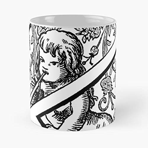K Angel Ornate Cherub - Coffee Mugs,handmade Funny 11oz Mug Best Holidays Gifts For Men Women Friends.