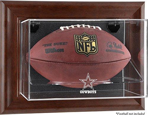 Mounted Memories Dallas Cowboys Brown Football Display Case - Dallas Cowboys One - Display Logo Case Browns