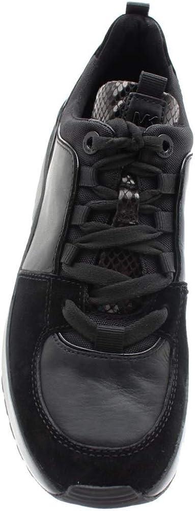 Michael Kors Formateurs de Cosmo Noir Cuir Black Leather