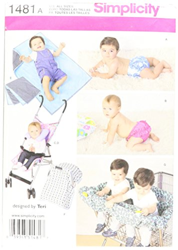 Simplicity Creative Patterns 1481 Babies' Accessories and Swim Diaper, A (ALL (Baby Accessories Pattern)