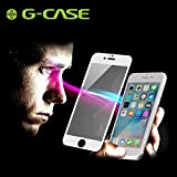 iPhone 6S Screen Protector, G-CASE 0.15mm Tempered Glass Screen Protector Full Coverage Anti-Glare Blue Light Eye Protected Easy Installation 4.7 Inch- White (1 Pack)