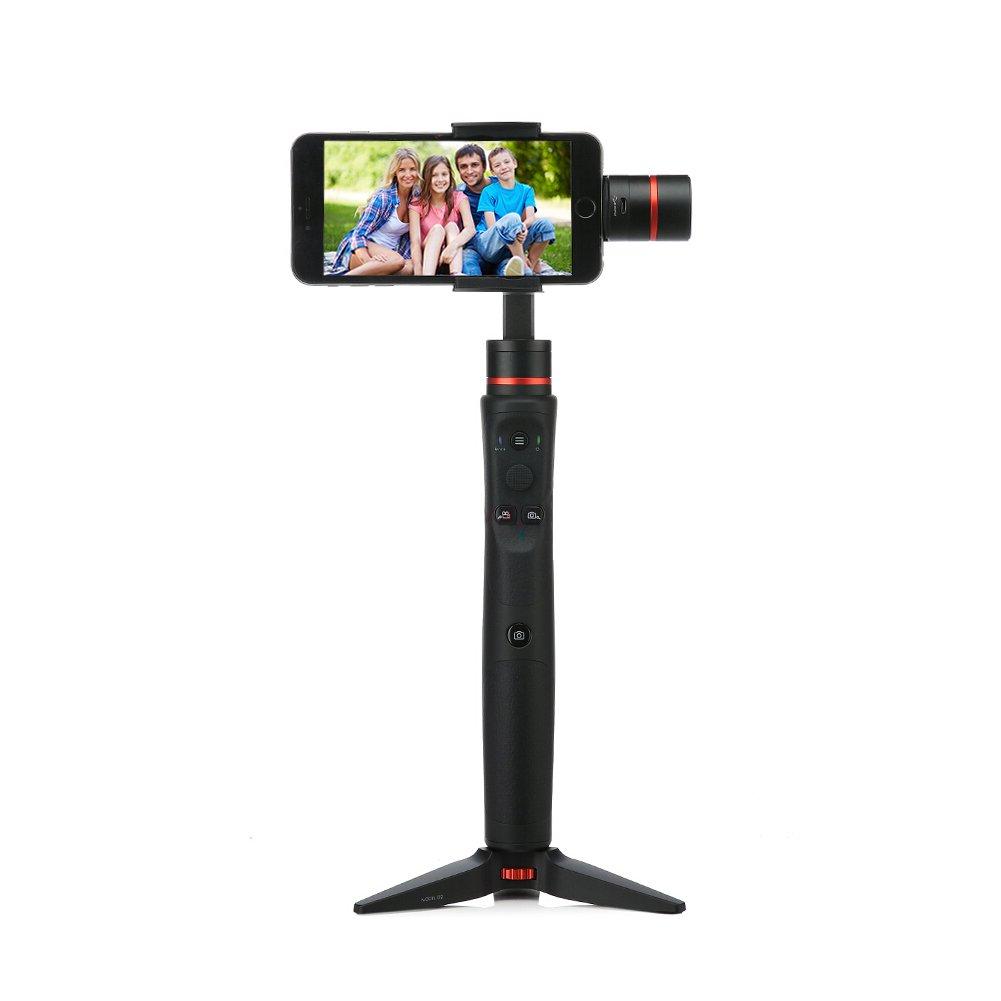 スマートスマートジンバル、ノンスリップハンドヘルドジンバルfor Mobilephoneとスポーツカメラ( also suitable for Goproスポーツカメラ、サポートiOSとAndroid App、自由に調整撮影角度とメソッド、証明書   B0784JM4R9