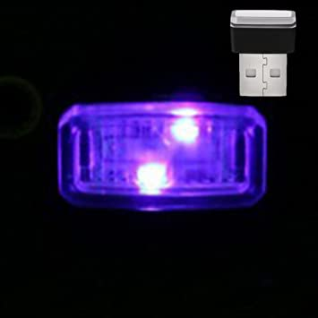 GEZICHTA Luces de ambiente para coche, iluminación USB para coche, mini luz interior inalámbrica para encendedor de cigarrillos, lámpara decorativa ...