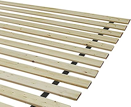 Classic Brands Heavy-Duty Solid Wood Bed Support Slats King Bunkie Board