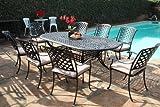 Kawaii Collection Outdoor Cast Aluminum Patio Furniture 9 Piece Dining Set MLV4284T CBM1290 Review
