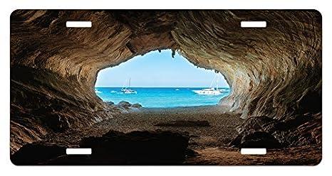 Amazon Com Lunarable Natural Cave License Plate Hidden Hole Spot