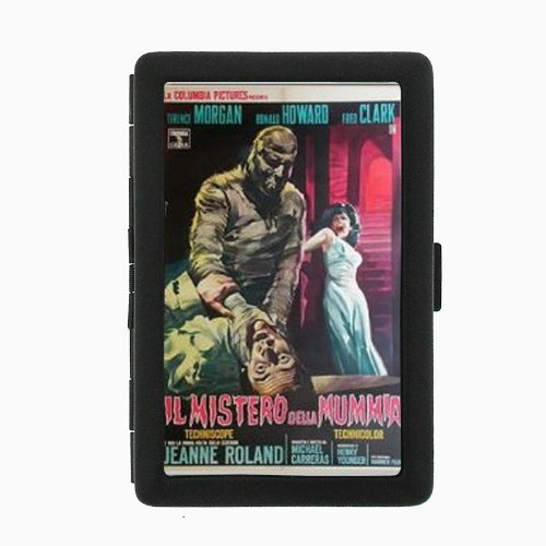 Curse of the Mummy's Tomb 1964 Double-Sided Black Color Cigarette Case, ID Holder, and wallet D-391 (The Curse Of The Mummys Tomb 1964)