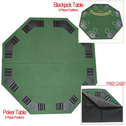 2-in-1 Folding Poker Blackjack Table Top