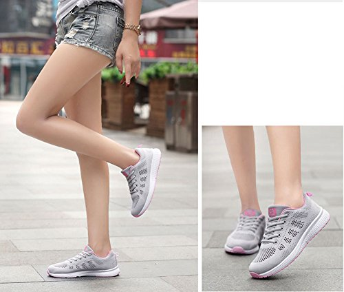 A Shoes Walking Cordón Respirables nuevos Mujeres Absorbing Zapatos Ocasionales Zapatos Sports de Verano Los Ligero Trainers Sports Running Shock Bubble Student Air Exing Gimnasio gHBzqwAw
