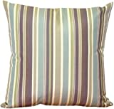 Pillow Decor - Sunbrella Brannon Whisper Stripes 20x20 Outdoor Pillow
