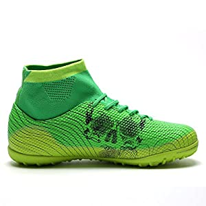 OUYAJI TF Athletic Soccer Cleats Football Boots Indoor Outdoor Shoes Birthday Gifts Men Women Kids green 44