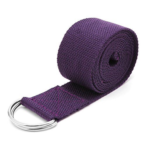 Padory Yoga rope Belt Adjustable Sport Stretch Strap D-Ring Belts Gym Waist Leg Fitness (Deep ()