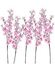 BESPORTBLE 6 Stuks Kunstbloem Takken Faux Zijde Kersenbloesems Stem Roze Perzik Bloemen Voor Thuis Tuin Restrant Hotel Partijen Bruiloft Tafel Centenpieces Regelingen