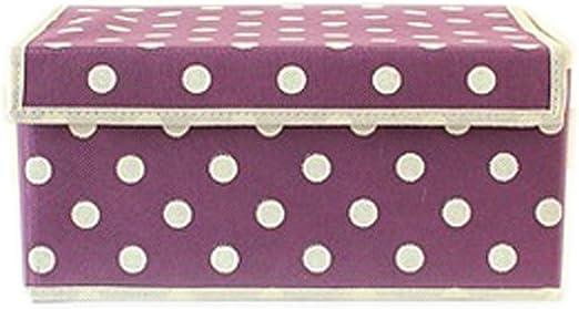 Popular decorativa caja de almacenaje de lunares: Amazon.es: Hogar