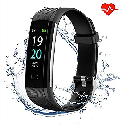 Showyoo Fitness Pulsera de Actividad Inteligente Impermeable IP68 con Pantalla Color, Reloj Inteligente Pulsómetro, Cronómetros, Monitor de Sueño ...