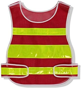 AINIYF Chaleco reflectante para correr o andar en bicicleta | Chaquetas Reflectoras Con Bolsillos | Ropa de seguridad de alta visibilidad para bicicleta, caminar, corredores (Color : Red): Amazon.es: Bricolaje y herramientas