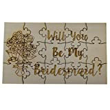Will You Be My Bridesmaid, 15 Piece Basswood Jigsaw Puzzle - Wedding Bridal Party Bouquet Bride Gift