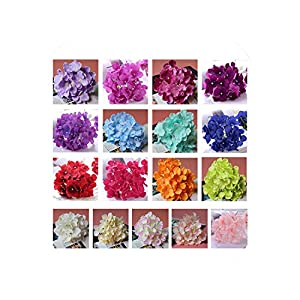 Artificial Hydrangea Flower No Leaf Fake Silk Hydrangea Floral Wedding Decoration 104
