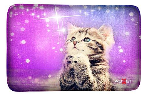 AUPET Carpets Floor Door Mat Carpets Indoor/Outdoor Area Rugs Garden Office Door Mat,Kitchen Dining Living Hallway Bathroom Pet Cat Dog Feeding Mat Pad Entry Rugs with Non Slip Backing