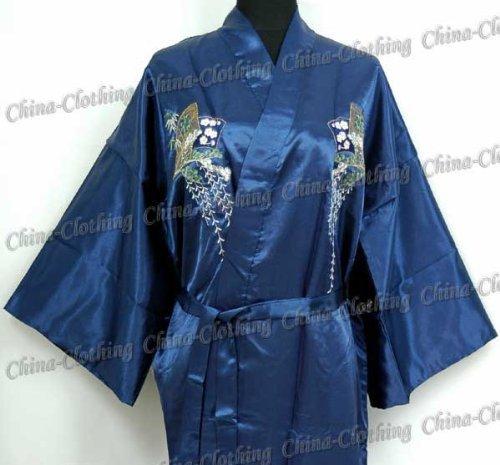 9NN Xanadu Kimono Túnica Pijama Azul marino Talla Única: Amazon.es ...