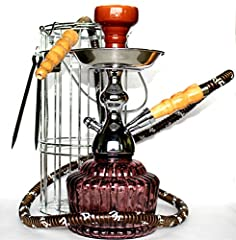 Product Description: The QT Mya is a truly remarkable Hookah that encompasses detail in the form of a revolutionary designed glass vase that is very durable. The QT is stored in a wire basket and is ideal for traveling due to its overall size...