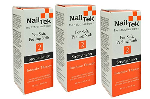 - Nail Tek #2 Strengthener Intensive Therapy For Soft Peeling Nail - Size 0.5oz/15ml (Pack 3)