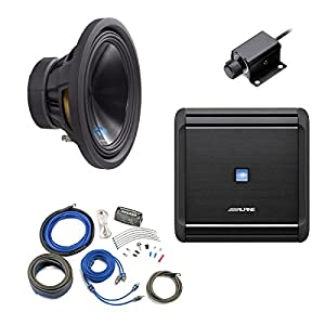 "Alpine Bass Package - Type-S 12"" Subwoofer, MRV-M500 500 watt amp, Bass Knob, and Wiring Kit"