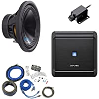 Alpine Bass Package - Type-S 12 Subwoofer, MRV-M500 500 watt amp, Bass Knob, and Wiring Kit