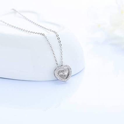 47167c0ffa30 SHOUSHI Moda para Mujer Ol en Forma de Corazón Plateada S925 Plata Corazón  Femenino con Forma ...